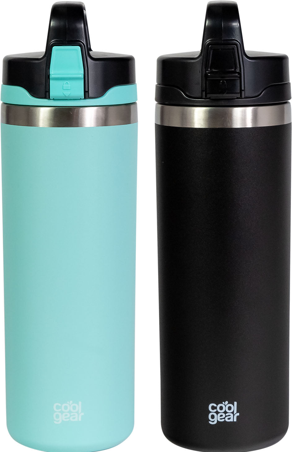 2 Pack COOL GEAR Niagara 25oz Stainless Steel Water Bottle | Locking lid