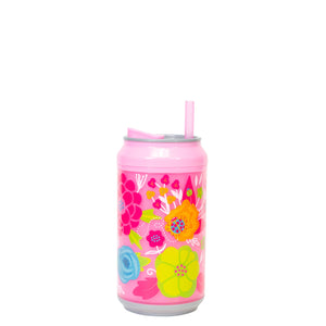 Cool Gear | 12 Oz Easter Coolgearcan (with Straw) in Pastel Pink / Flowers
