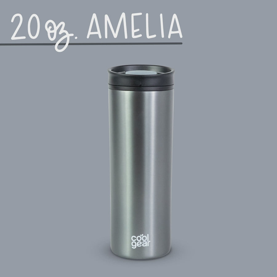 2 Pack COOL GEAR 20oz Amelia Coffee Travel Mug with Spill Proof Slider Lid