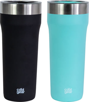 2 Pack COOL GEAR Eclipse 30oz Stainless Steel Tumbler | Slide & Sip Lid