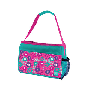 Aqua / Pink Flowers Girls Insulated Lunch Bag at Cool Gear Lunch Bags