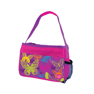 Pink / Purple Butterflies Girls Insulated Lunch Bag at Cool Gear Lunch Bags