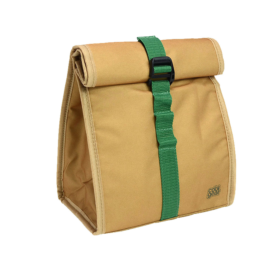 Tan / Blue Brown Baggin It Insulated Lunch Bag at Cool Gear Lunch Bags