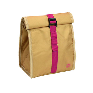 Tan / Pink Brown Baggin It Insulated Lunch Bag at Cool Gear Lunch Bags