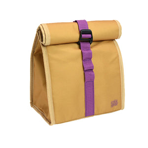 Tan / Purple Brown Baggin It Insulated Lunch Bag at Cool Gear Lunch Bags