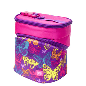 Purple / Pink Butterflies Wedge Insulated Lunch Bag at Cool Gear Lunch Bags