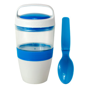 White, Blue Cereal On The Go 2.0 at Cool Gear Food Containers
