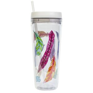 Clear / Feathers Callisto 32 Oz Printed Chiller at Cool Gear Tumblers