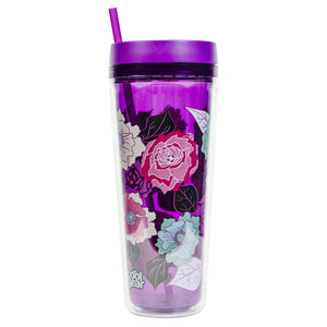 Bright Purple / Floral Callisto 32 Oz Printed Chiller at Cool Gear Tumblers