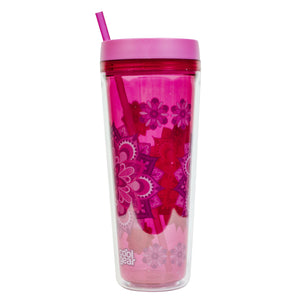 Light Pink / Mandalas Callisto 32 Oz Printed Chiller at Cool Gear Tumblers