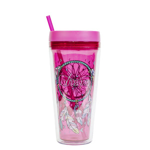 Light Pink / Dreamcatcher Callisto 24 Oz Printed Chiller at Cool Gear Tumblers