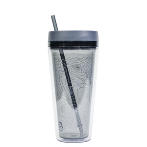 Smoke / Topography Callisto 24 Oz Printed Chiller at Cool Gear Tumblers