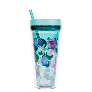 Teal / Shells Callisto 24 Oz Printed Chiller at Cool Gear Tumblers