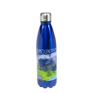 Dark Blue / Mountains Are Calling Apollo Stainless Steel 17 Oz Printed Water Bottle at Cool Gear Water Bottles,Stainless Steel