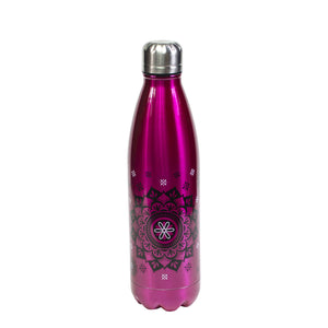Pink / Mandala Apollo Stainless Steel 17 Oz Printed Water Bottle at Cool Gear Water Bottles,Stainless Steel