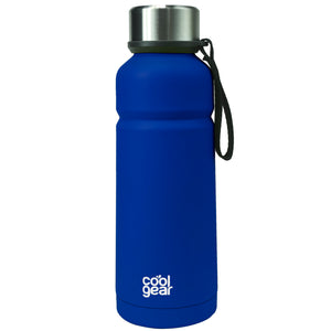Dark Blue Cayambe 18 Oz Double Wall Water Bottle at Cool Gear Water Bottles,Stainless Steel