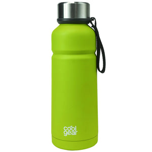 Lime Green Cayambe 18 Oz Double Wall Water Bottle at Cool Gear Water Bottles,Stainless Steel