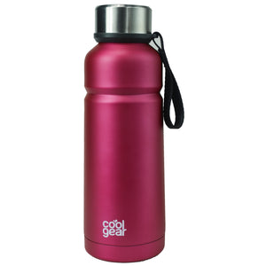 Bright Pink Cayambe 18 Oz Double Wall Water Bottle at Cool Gear Water Bottles,Stainless Steel