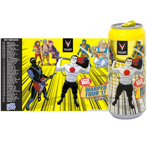 Yellow 2017 Vans Warped Tour 16 Oz coolgearcan at Cool Gear Warped Tour,Coolgearcans