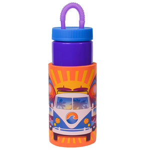 Dark Purple / Sunburst Van Retro 32 Oz Water Bottle at Cool Gear Water Bottles