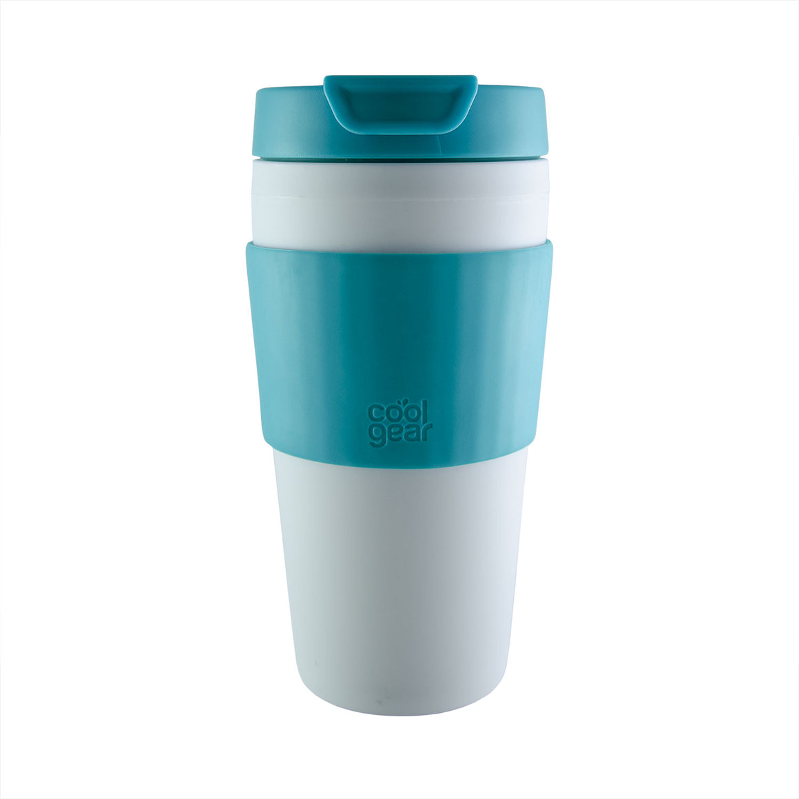 Cool Gear | Callisto 16 Oz Coffee Mug with Band in Aquamarine