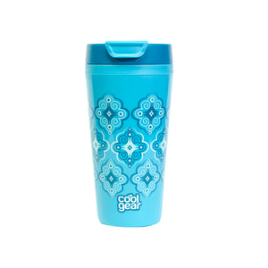 Aquamarine / Mosaic Callisto 16 Oz Printed Coffee Mug at Cool Gear Coffee Tea,Travel Mugs