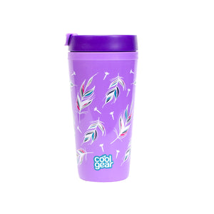 Light Purple / Feathers Callisto 16 Oz Printed Coffee Mug at Cool Gear Coffee Tea,Travel Mugs