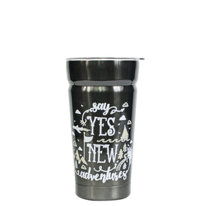 Light Gray / Adventure Cayambe 20 Oz Printed Tumbler With Lid at Cool Gear Tumblers,Stainless Steel