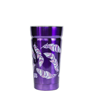 Light Purple / Feathers Cayambe 20 Oz Printed Tumbler With Lid at Cool Gear Tumblers,Stainless Steel