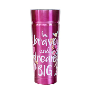 Bright Pink / Dream Big Cayambe 30 Oz Printed Tumbler With Lid at Cool Gear Tumblers,Stainless Steel