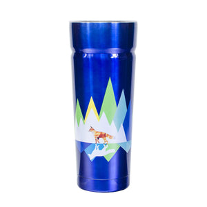 Dark Blue / Fox Cayambe 30 Oz Printed Tumbler With Lid at Cool Gear Tumblers,Stainless Steel