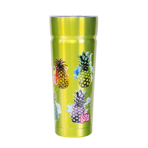 Lime Green / Pineapples Cayambe 30 Oz Printed Tumbler With Lid at Cool Gear Tumblers,Stainless Steel