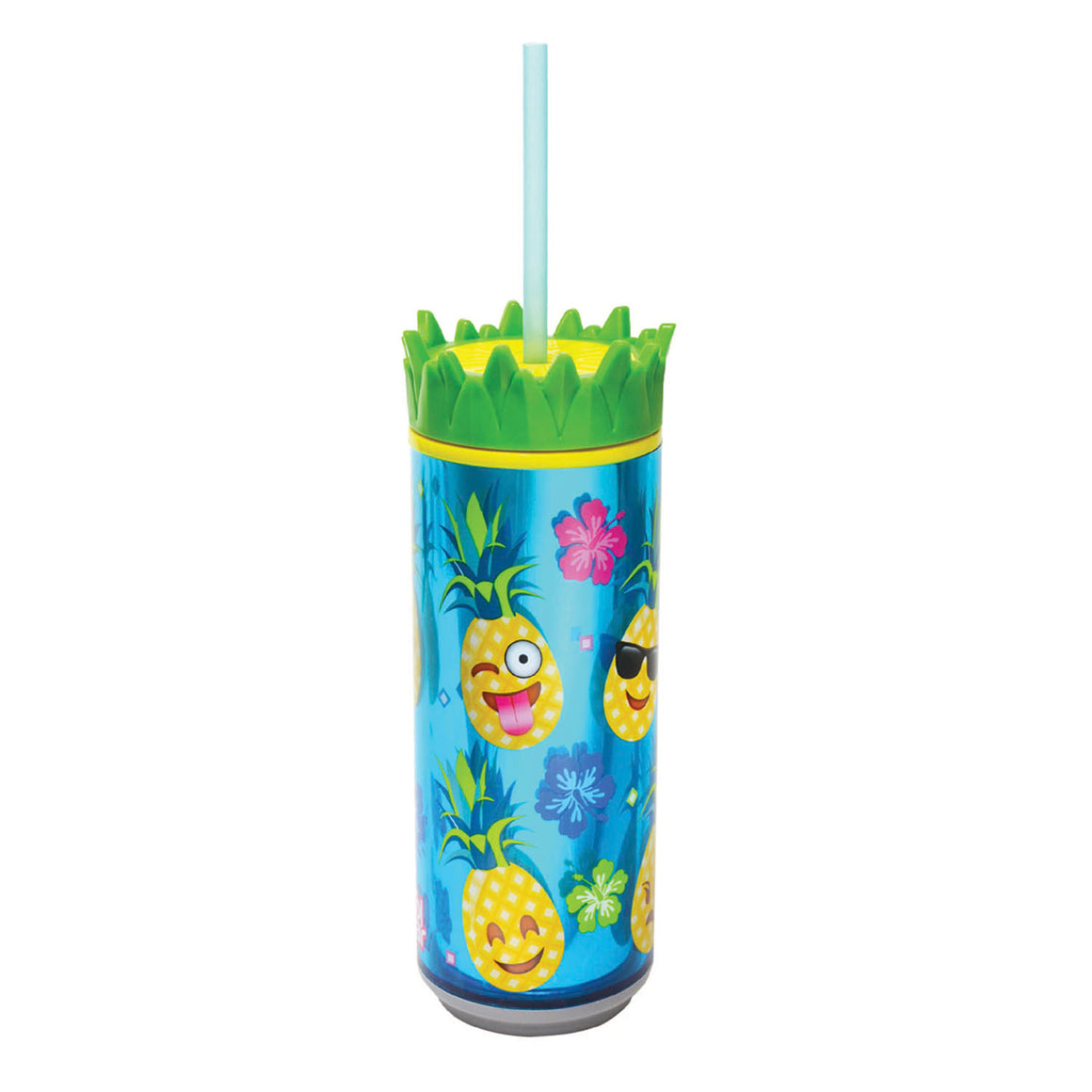 Light Blue / Pineapple Faces 16 Oz Pineapple Can at Cool Gear Coolgearcans