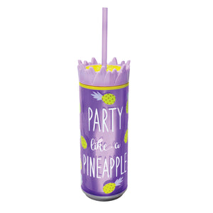 Light Purple / Party Like A Pineapple 16 Oz Pineapple Can at Cool Gear Coolgearcans
