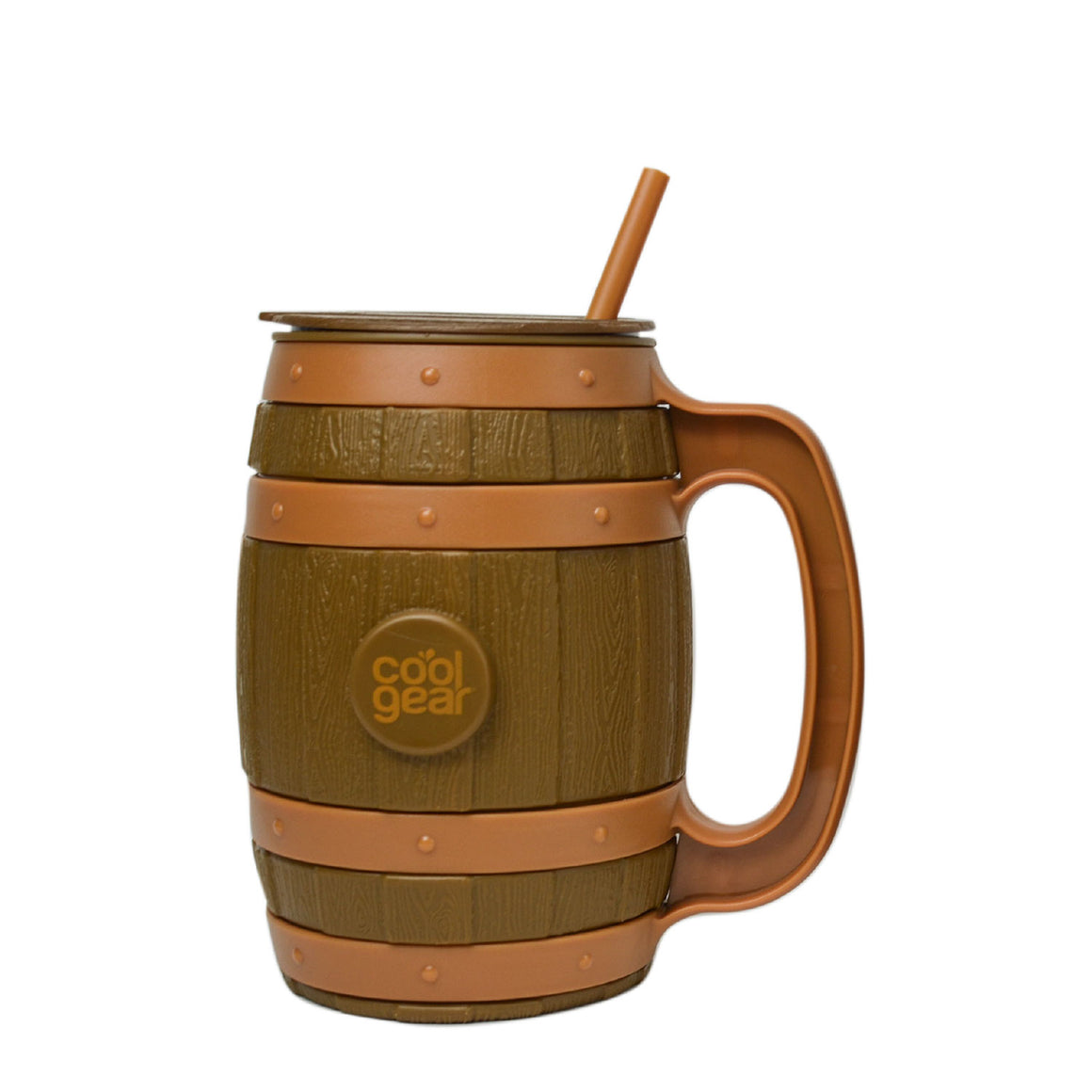Brown/Tan 40 Oz Whiskey Barrel Mug at Cool Gear St. Patrick's