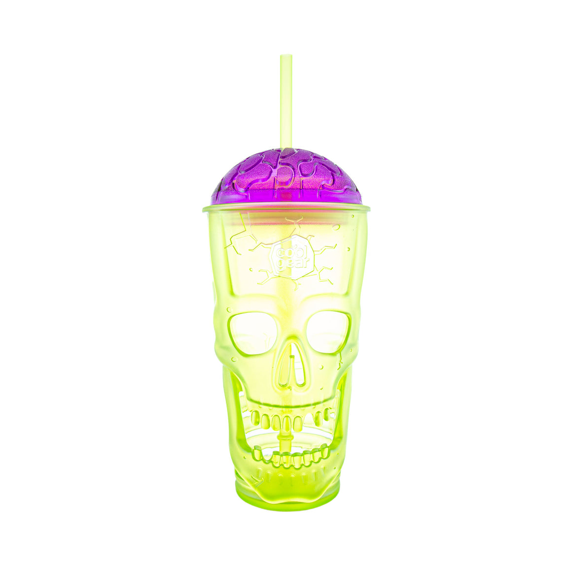 Cool Gear | 24 Oz Skullagon Brain Lid Tumbler in Lime Green