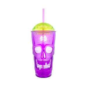 Cool Gear | 24 Oz Skullagon Brain Lid Tumbler in Purple