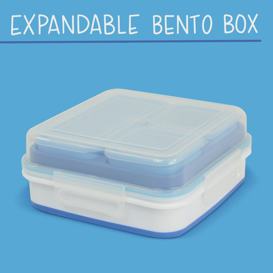 2 PACK COOL GEAR Expandable Bento Box | Tight Lid Snap Closure for Meal Prep & Lunch On-The-Go