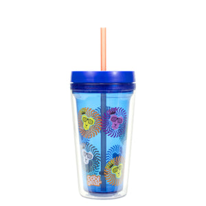 Dark Blue Callisto 12 Oz Printed Chiller at Cool Gear Tumblers