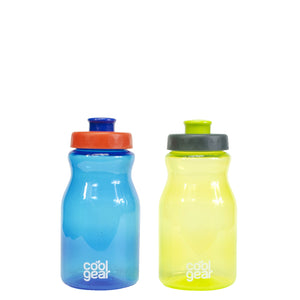 Tottie 12 Oz Water Bottles 2-Pk in Dark Blue / Lime Green at Cool Gear