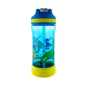 Cool Gear | Kicker Sipper 16 Oz Printed Water Bottle in Blue / Dinosaurs