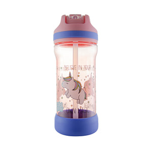 Cool Gear | Kicker Sipper 16 Oz Printed Water Bottle in Pink / Unicorns
