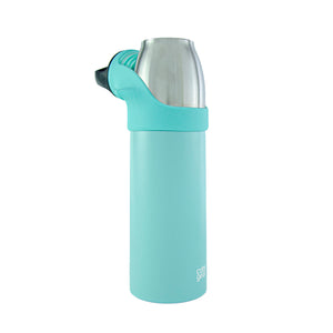 COOL GEAR Saturn 24oz Stainless Steel Water Bottle | Silicone Tension Strap Tumbler