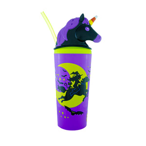Cool Gear | 18 Oz Halloween BOOnicorn Tumbler in Purple / Unicorn Witch