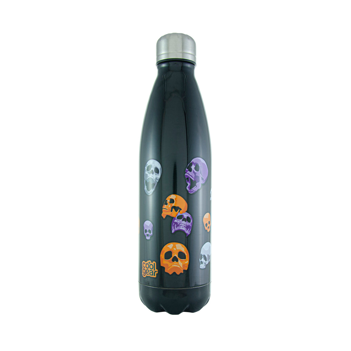 Cool Gear | Apollo 17 Oz Halloween Water Bottle in Black / Neon Skulls