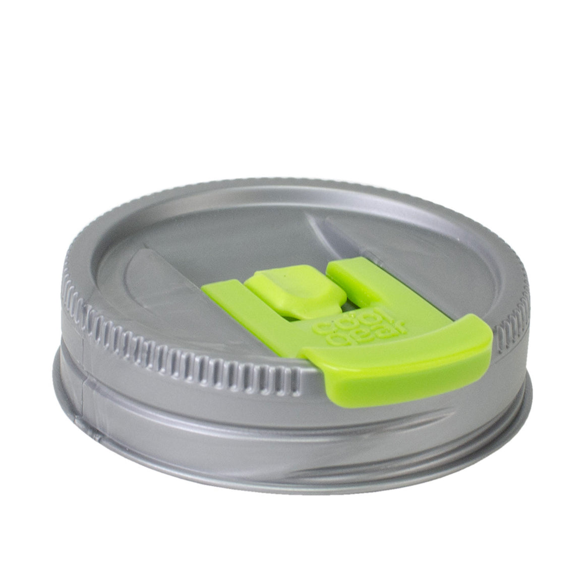 Cool Gear | Replacement Mason Jar Lid, Small in Silver / Green