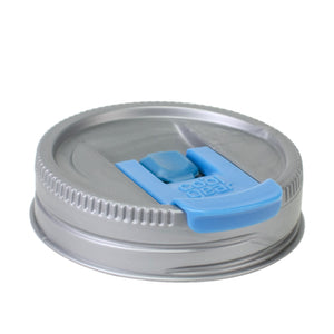 Cool Gear | Replacement Mason Jar Lid, Small in Silver / Light Blue