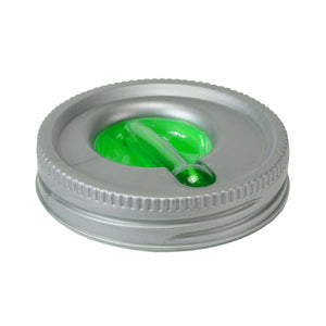 Cool Gear | Replacement Mason Jar Lid, Large in Silver / Green