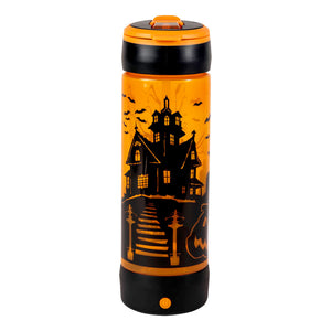 POP LIGHTS 24oz LIGHT UP HAUNTED HOUSE Halloween Water Bottle:By Cool Gear
