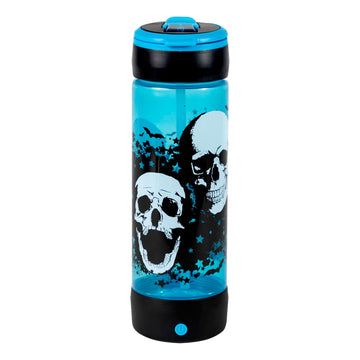 POP LIGHTS 24oz LIGHT UP SKULLS Halloween Water Bottle:By Cool Gear